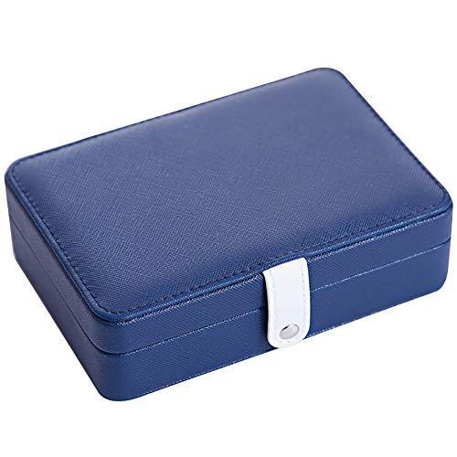 qddan Caja de Organizador de joyería de Viajes Mirror Incorporado Caja de Almacenamiento de Joyas para Pendientes de Pulsera, Anillos Regalo