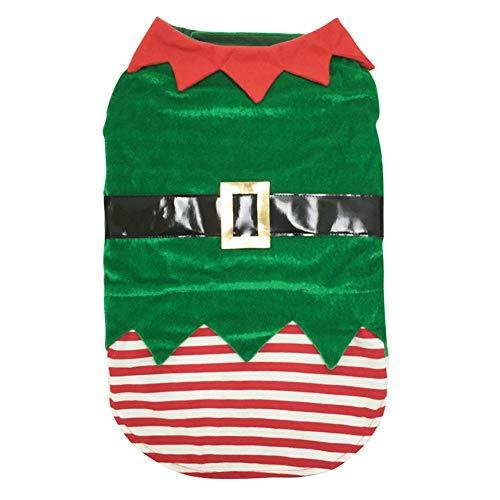 Poseca Disfraz de Perro Navidad Disfraz de Duende Verde para Mascota Disfraz...