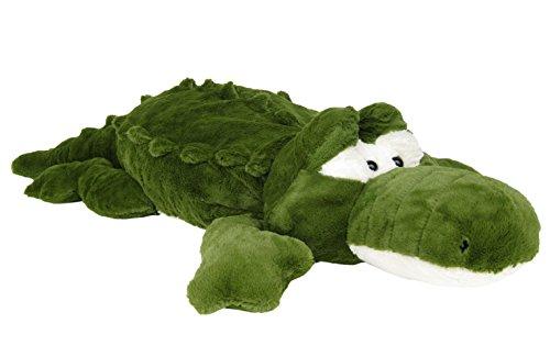 Wagner 6023 - XXL Plüschtier Krokodil Alligator - 115 cm Gross Plüschkrokodil Stoffkrokodil Plüsch