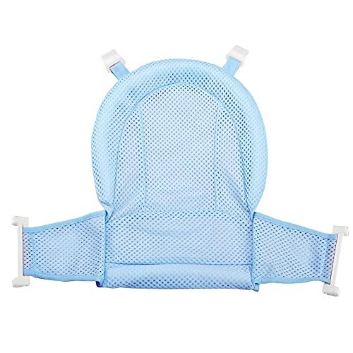 Asiento de baño para recién nacidos, con red de apoyo para bañera, asiento de seguridad antideslizante, ajustable, accesorio de baño, accesorio de ducha, para recién nacidos y niños pequeños