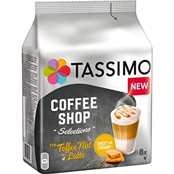 Tassimo Coffee T Discs - T-disc - Capsules TOFFEE NUT LATTE coffee pods 1 pack/8 discs