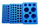 Estante multifuncional para tubos de ensayo de tubo de ensayo trapezoidal para tubo de prueba de 0,2 ml-50 ml tubo de ensayo