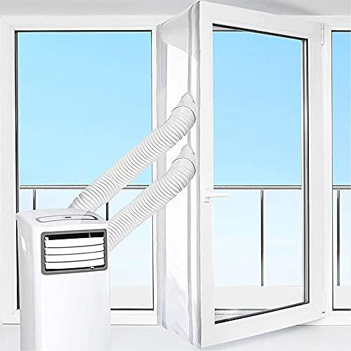 Kit Ventana Aire Acondicionado Portatil, Paño de Sellado de Ventana Universal, Sello de Ventana con Dual Cremallera,para Aire Acondicionado Móvil y Secadora, 400cm