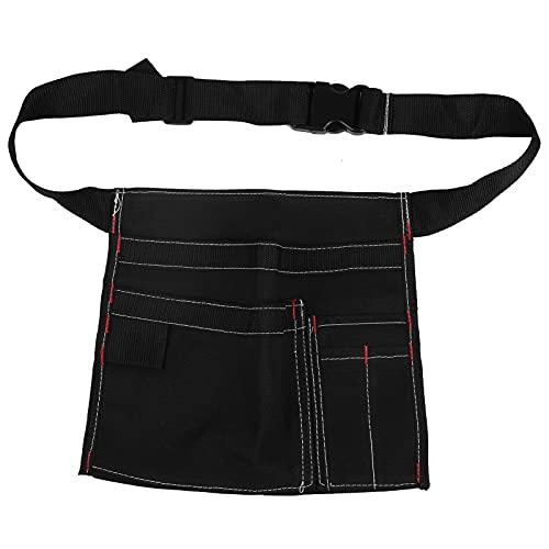 Bolsa de Cinturón para Herramientas de Jardinería Delantal de Cintura de Lona con Cinturón Ajustable Bolsa Multifuncional Duradera y Organizador de Herramientas de Diseño de Bolsillo para Hombre y Muj
