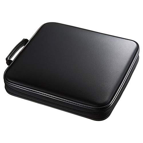 Caja de Vinilo 30x28x6.8cm 160 Capacidad de CD mano llevar a la caja de almacenamiento de CD caja compacta y fácil de almacenar for el coche hogar y los viajes ( Color : Black , Size : 30X28X6.8CM )