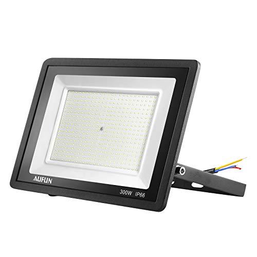 Froadp Faro a LED da 300 W, per esterni, IP65, impermeabile, in alluminio, illuminazione di sicurezza da giardino, per garage, cortile o hotel (bianco freddo)