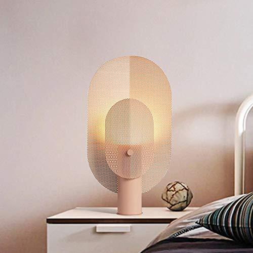 L.W.SURL Rejilla Minimalista postmoderna nórdica Hierro Forjado Sala de Estar Creativa Hotel Mesita de Noche Dormitorio y lámpara de Libro