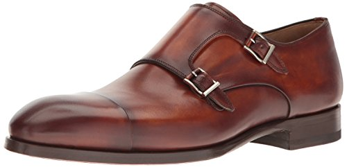 Magnanni Louie Cognac Men's Monk Strap Shoes Size 10 US