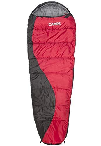 CAMPZ Desert Pro 300 Schlafsack rot/schwarz Ausführung Reißverschluss rechts 2021 Quechua Schlafsack