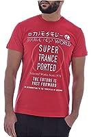 DIESEL(ディーゼル) Tシャツ (L) ブランド プリント 00SKAH R091A 42A L クルーネック メンズ レディス 綿100% (赤)