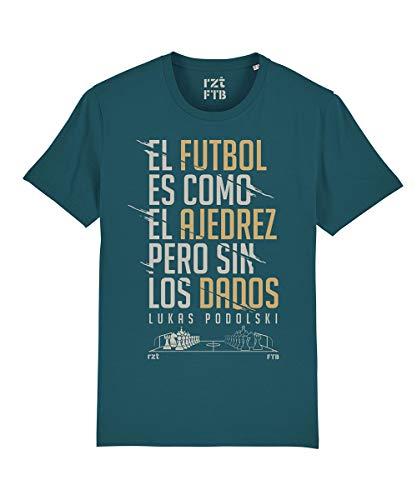 Camisetas Hombre Originales Fútbol - Camiseta AJEDREZ (El fútbol es como el ajedrez…) Orgánica - Camiseta Hombre Divertida - Camiseta Hombre Friki - Camisetas Originales - Camisetas Futbol (XL)