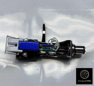 Cartridge, Stylus needle and headshell Titanium with mounting bolts for Technics SL-D1, SL-D1K, SL-D2, SL-D202, SL-D205, SL-D2K, SL-1400, SL-1401, SL-1410, SL-1500, SL-1510, SL-Q202, SL-Q2K, SL-Q3