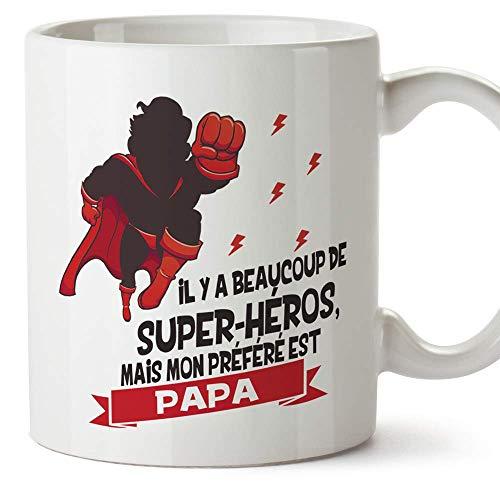 Mugffins Papa Tasse/Mug - Il y a Beaucoup de Super-héros -...