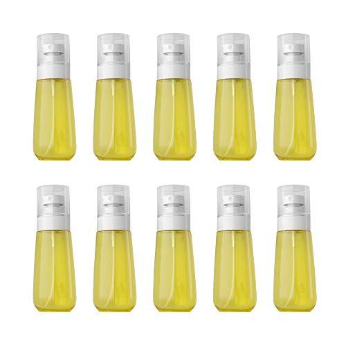 VOANZO 10 PCS 100 ml Vaporisateur UPG Cosmétiques Bouteille de Crème Solaire Mini Huile Essentielle Parfumerie Distributeur Vaporisateur Transparent (jaune)