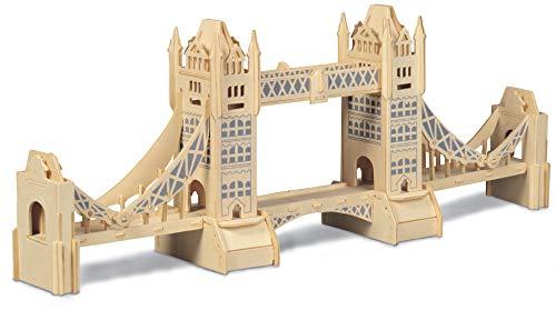 Quay- Tower Bridge Woodcraft Construction Kit FSC, P055, Marron