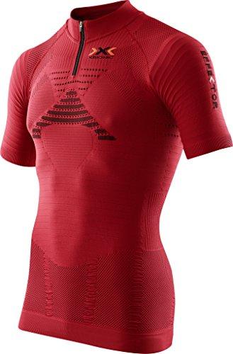 X-Bionic T-Shirt Trail Running on effecteur Ow SH SL. Zip Up Chemise de Course, Homme, Trail Running Man EFFEKTOR Ow Shirt SH_SL. Zip-UP, Paprika/Black