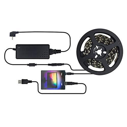 Godob - Striscia LED per TV, monitor PC, con USB, HDTV, per retroilluminazione, set completo per fai da te