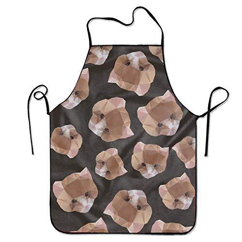 N\A Lederhosen Schürze Katze von Einer geometrischen Schürze Neuheit Küche Kochen BBQ Schürze für Frau von