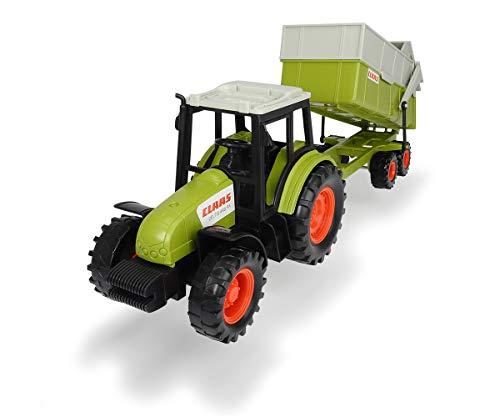 Dickie Toys Claas Traktor mit Anhänger, Trecker mit Kipper, Bauernhof Spielzeug, Spielzeugtraktor, bewegliche Teile, 36 cm, ab 3 Jahren