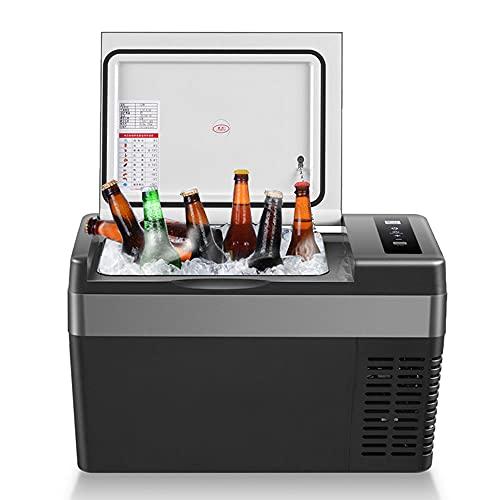 KKmoon Mini Refrigerador, Nevera Portátil Eléctrica Refrigerador de Coche 25L, Refrigerador y Calentador Portátil para Coche Compacto, Refrigeración Rápida, Nevera Automática para Picnic
