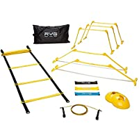 Raise Your Game RYG Speed Agility Training Set- Ladder, Cones, Hurdles, Explosiveness, Resistance, Exercise Equipment, Soccer, Football, Track Field, Basketball, Footwork, Workout Drills, Sport Train from Raise Your Game