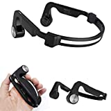 Giftown Foldable Bone Conduction Headset Bluetooth 5.0 Wireless Stereo Earphones Mega Bass Music Headphones IPX5 Waterproof with Mic for iOS/Android