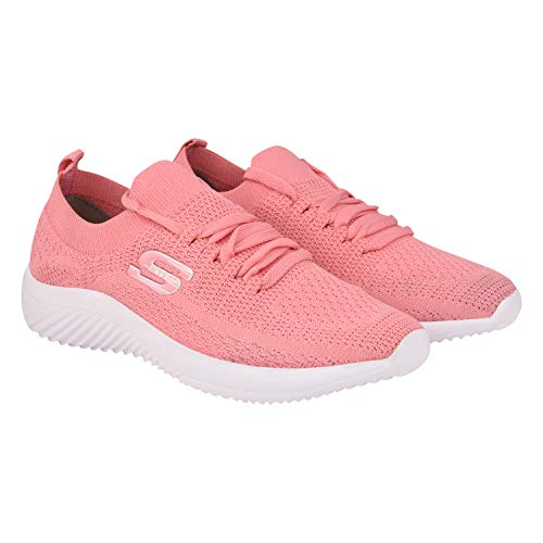 HITCOLUS Training Shoes,Walking Shoes,Gym Shoes,Sports Shoes, Running Shoes, Casual Shoes, Light Weight Comfortable Shoes for Women's/Girl's Pink