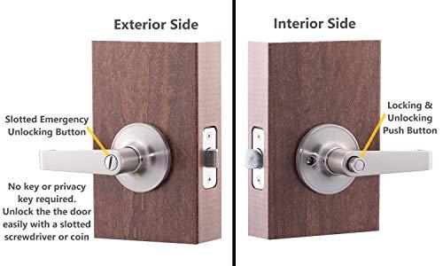 push button privacy lock