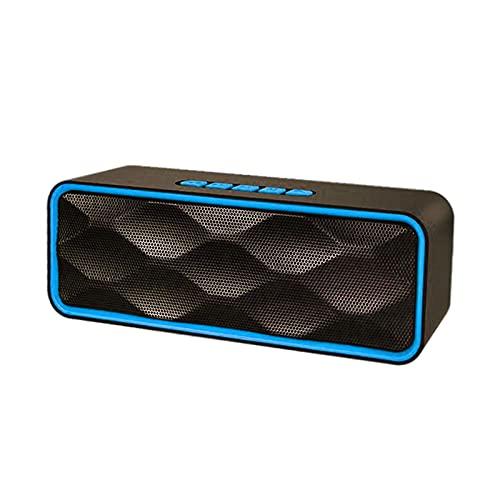 MagiDeal Altavoz Bluetooth Recargable HD Sonido ABOERING Bass USB AUX AUX Incorporado Mic Altavoces para Exteriores para Party Indoors Smartphones Manos Libres - Azul