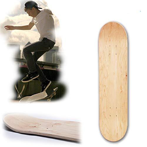 Skateboard Deck, 8inch Maple Blank Double Konkave Skateboards Natur Skate Deck Board Skateboards Deck Holz Ahorn