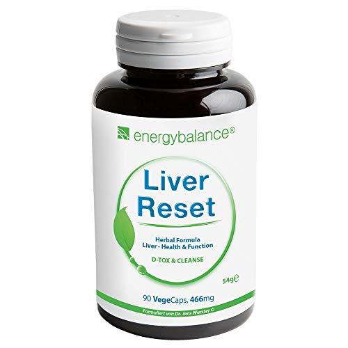 EnergyBalance Liver Reset - Kapseln Leber Komplex - Leber Regeneration - Vegan, ohne Zusätze - 90 VegeCaps à 466 mg