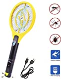 Electric Mosquito, Fly Killer and Bug Zapper Racket - 4000 Volt - Rechargeable
