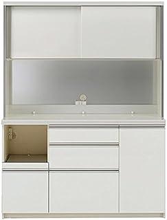 パモウナ 食器棚KL パールホワイト 幅140×高さ187×奥行45 日本製 KLL-S1400R