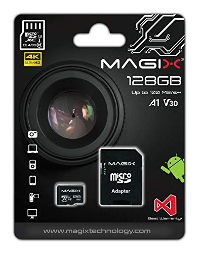 Micro SD Card MAGIX 4K Series Class10 V30 + SD Adapter UP to 100MB/s (128GB)