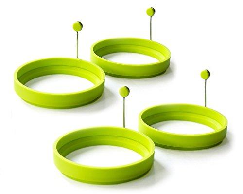 puissant Poêle ronde en silicone antiadhésive pour 2ème œuf frit et crêpes, vert