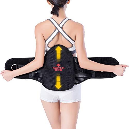 ZFF Soporte Lumbar Cinturón,Apoyo Lumbar Transpirable De Malla Paneles Doble Dolor De...