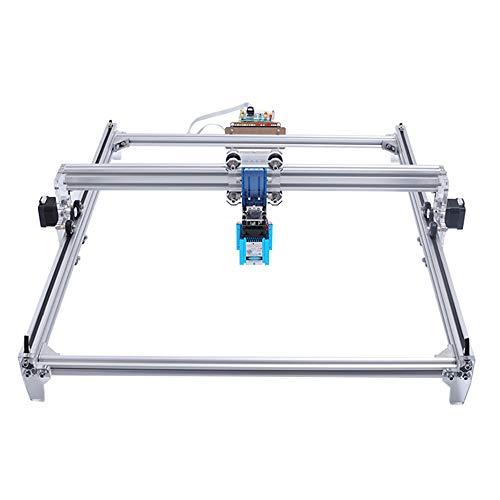 TOPQSC Máquina grabadora de grabado láser, Impresora de bricolaje Marcado de imagen, Impresora de escritorio de 2 ejes para plástico madera de cuero, 60x50cm, 7000MW
