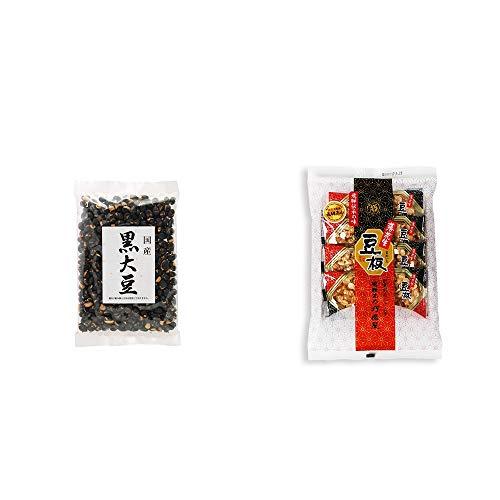 [2点セット] 国産 黒大豆(140g)・飛騨銘菓「打保屋」の駄菓子 豆板(8枚入)