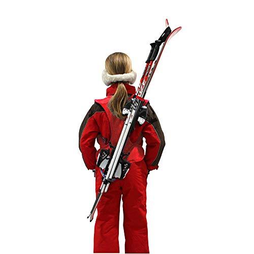 Wantalis Skiback - Portaesquís y Bastones Infantil Rojo Rojo Talla:1,30 m