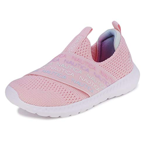 Nautica Kids Boys Fashion Sneaker Slip-On Athletic Running Shoe for Toddler and Little Kids-Pierce Toddler-Pink Multi-8