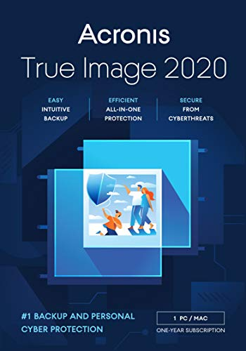 Acronis True Image 2021 | Advanced | 1 PC/Mac | 1 Jahr | Cyber Protection-Lösung für Privatanwender| Integriertes Backup und Virenschutz mit 250 GB Cloud Storage | iOS/Android | Box-Version