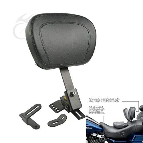XFMT Adjustable Driver Backrest Pad Compatible with Harley Touring Electra Glide Road Glide 97-19
