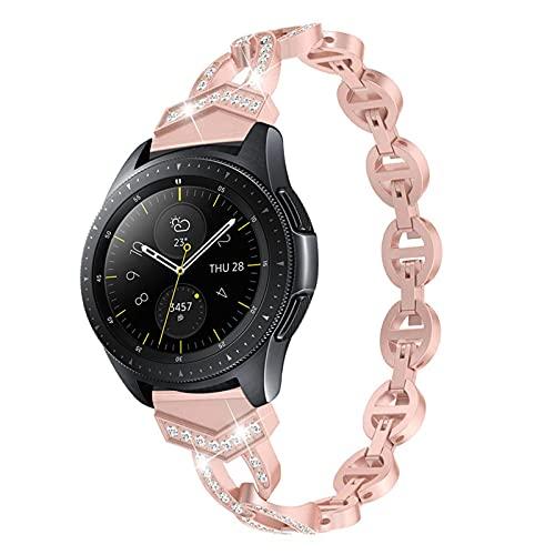 Correa De Diamantes Para Mujer Para Huaw Watch 3 / Pro GT 2 46mm 42mm 48mm Pulsera De Banda Para Samsung Galaxy Watch3 45mm / 41mm / Active 2 Belt 1033