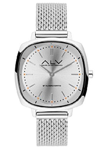 Orologio Alviero Martini ALV0055 acciaio silver quadro slim andare lontano viaggiando maglia milano