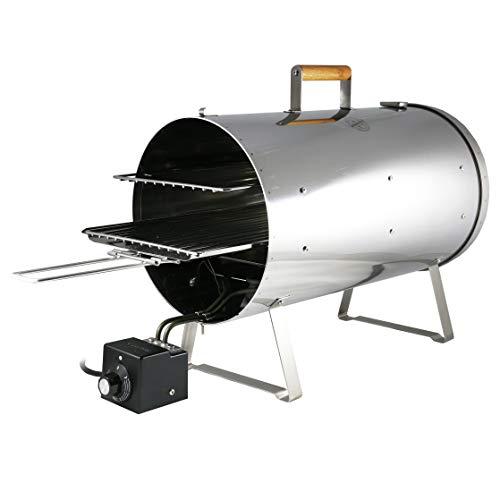 MUURIKKA Räucherofen PRO 1200W Zwei-Ebenen, regelbarer Elektro-Smoker kompakt aus Edelstahl, für Fisch & Fleisch