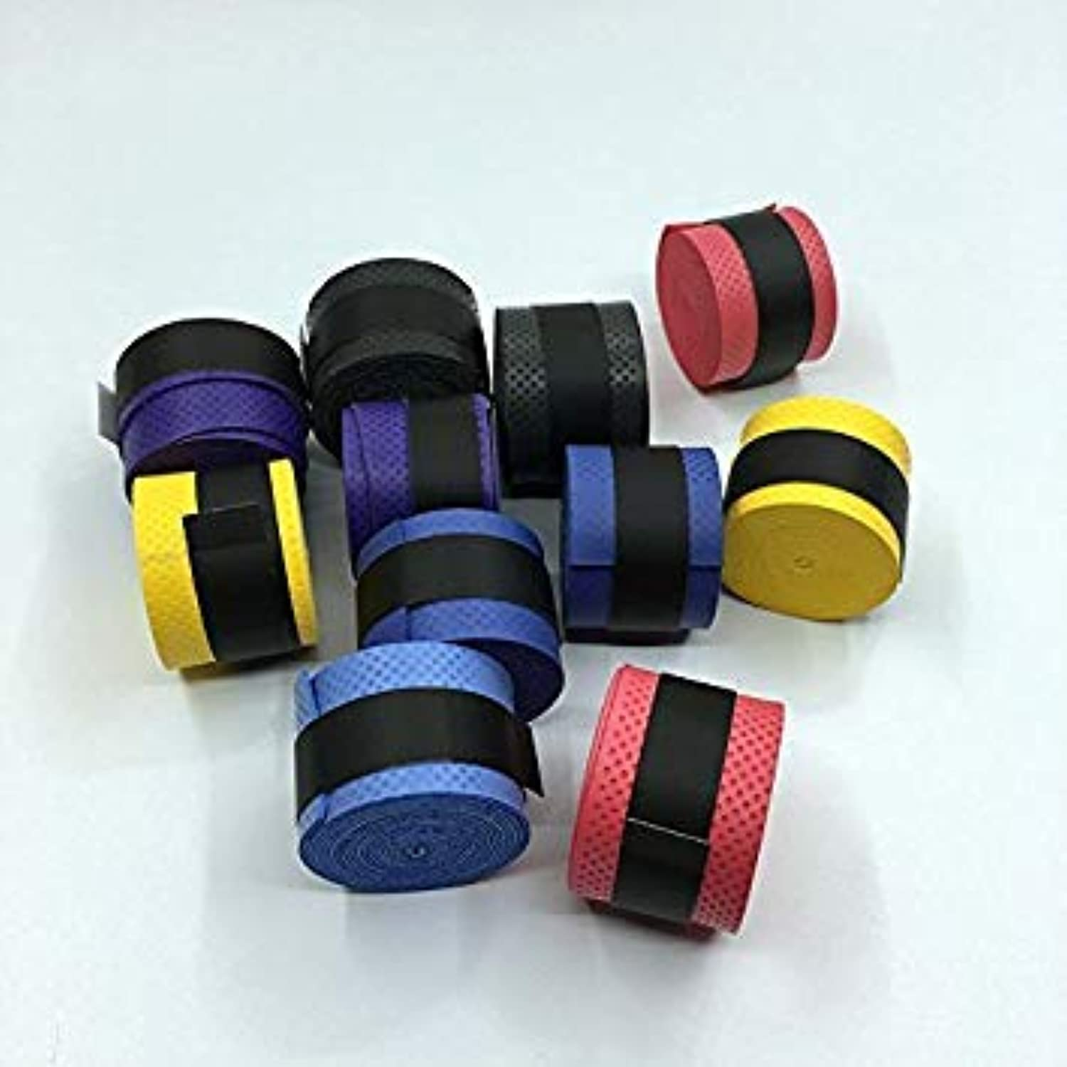 60Pcs (Assorted colors) Dry Feel Pressure Point Badminton Racket Over Grip,Tennis Overgrips