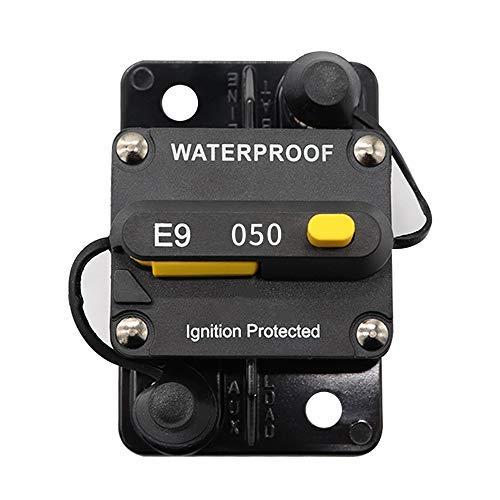 KKmoon 50A Schutzschalter Leistungsschalter-Schalterfeld Wechselrichter-Handrücksteller für Auto Truck RV Marine Trailer