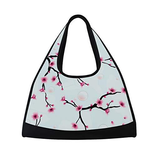 Bennigiry Spring Plum Blossom Gym Bag, Sport Duffle Bag Training Handbag Große Reise Schultertasche Tasche Tennis Badminton Schläger Tasche für Herren Damen