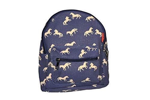 k:s me Rucksack Pferde blau• Rucksack für Mädchen • backpack