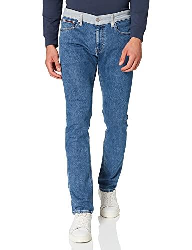 Tommy Jeans Hombre Tjm Scanton Heritage Slim Jeans, Azul (TJ DENIM COLORBLOCK 1A4), W36/L34